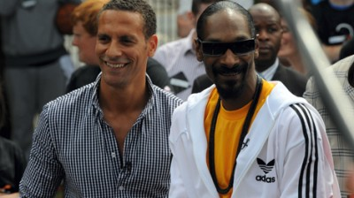 Snoop Dogg and Rio Ferdinand in Salford with Orange RockCorps